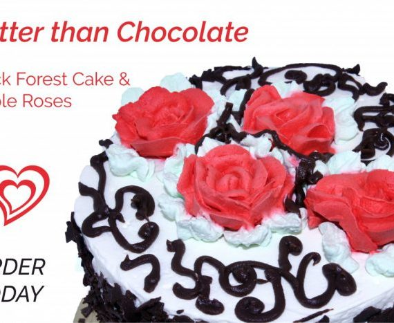Valentine's Day Black Forest Cake